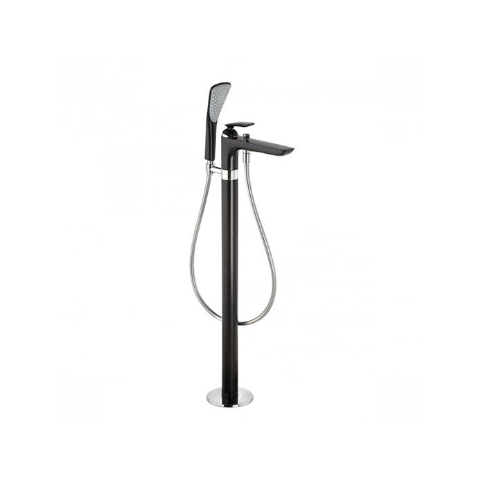 Kludi Balance Смеситель для ванны, напольный, цвет: чёрный матовый/хром