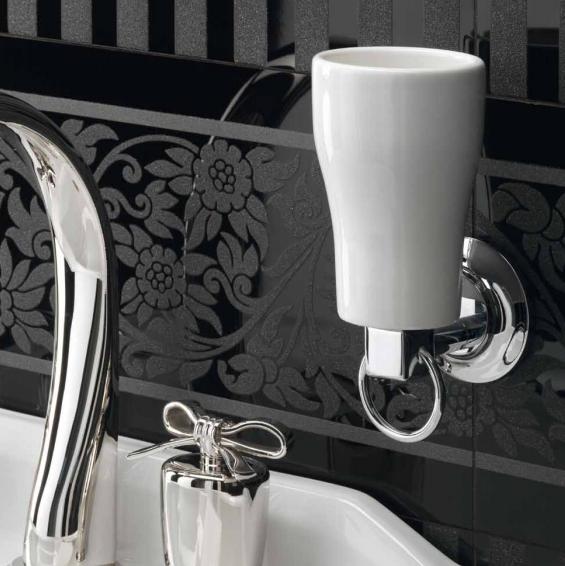 г. Москва: Petracers Alta Moda комплект аксессуаров для ванной (дозатор, стакан, крючок), хром/белый
