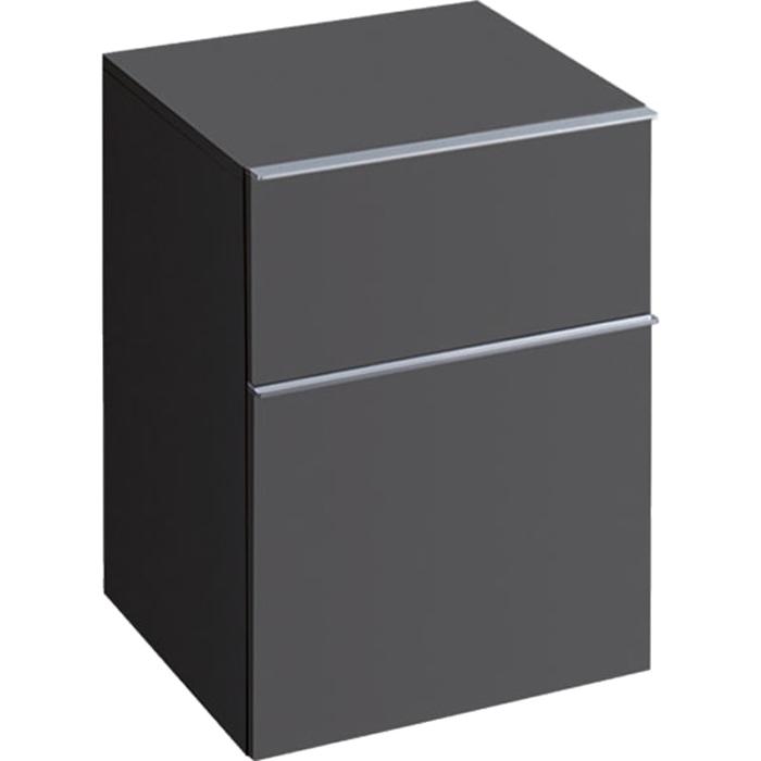 Geberit iCon Подвесной шкафчик с двумя выдвижными ящиками 45х60х47.7см, темно-серый/матовое покрытие
