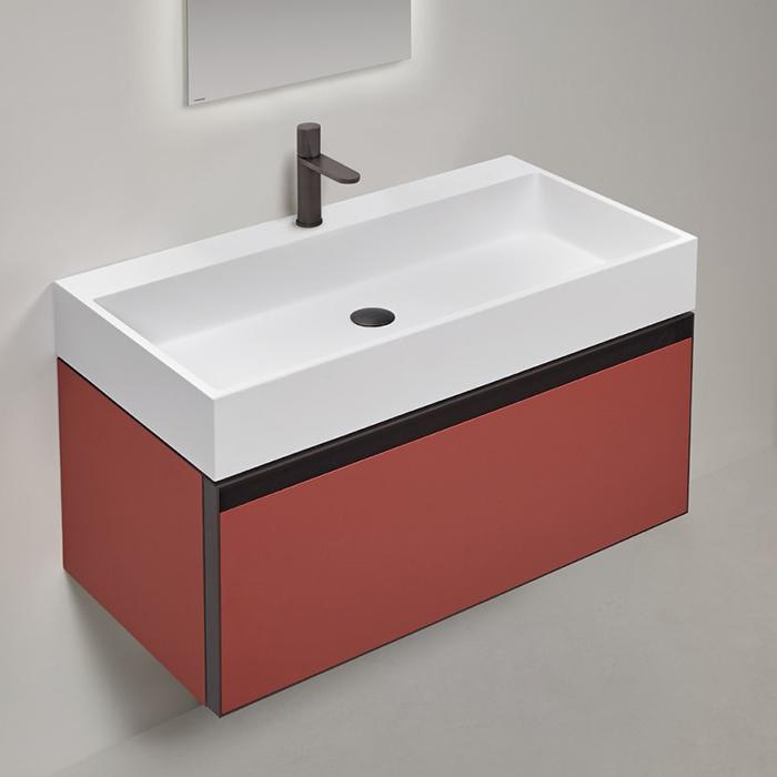 Antonio Lupi Atelier Комплект подвесной мебели 90х50хh37.5см, с раковиной, с 1 ящиком, цвет: Terracotta goffrato