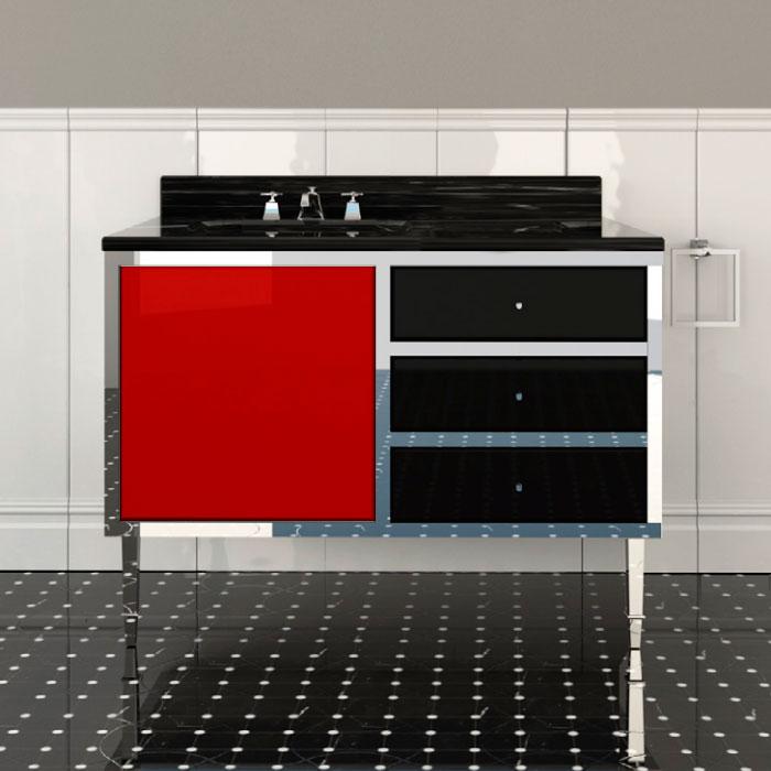 Devon&Devon Jazz 2, Комплект мебели, Цвет: red/deep black