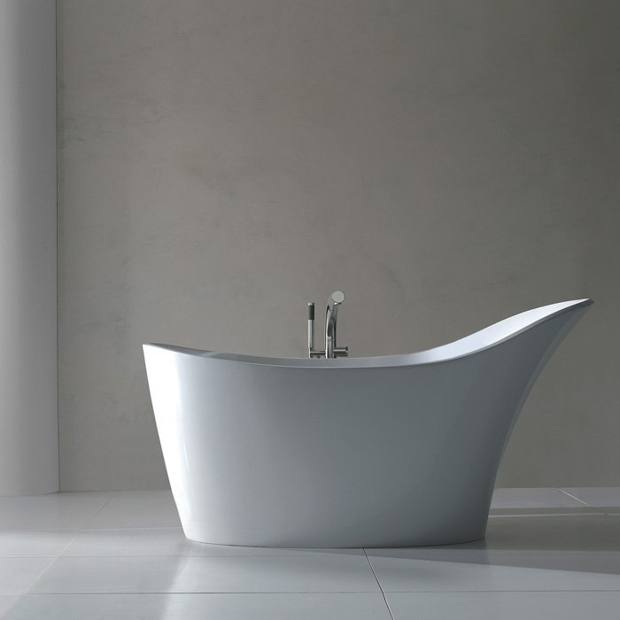 Victoria + Albert Amalfi, Ванна отдельностоящая, 163х79 см, цвет: белый