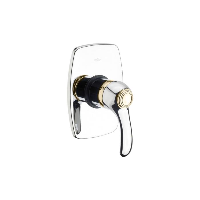 Webert Aurora Встраиваемый смеситель для ванны, цвет: хром/золото