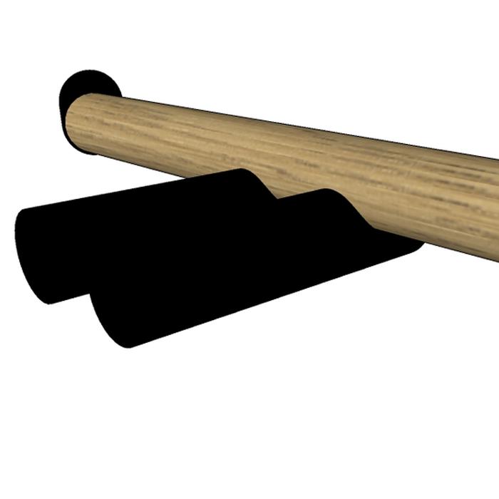 Agape Dot line Двойной держатель Т/Б, цвет: черный