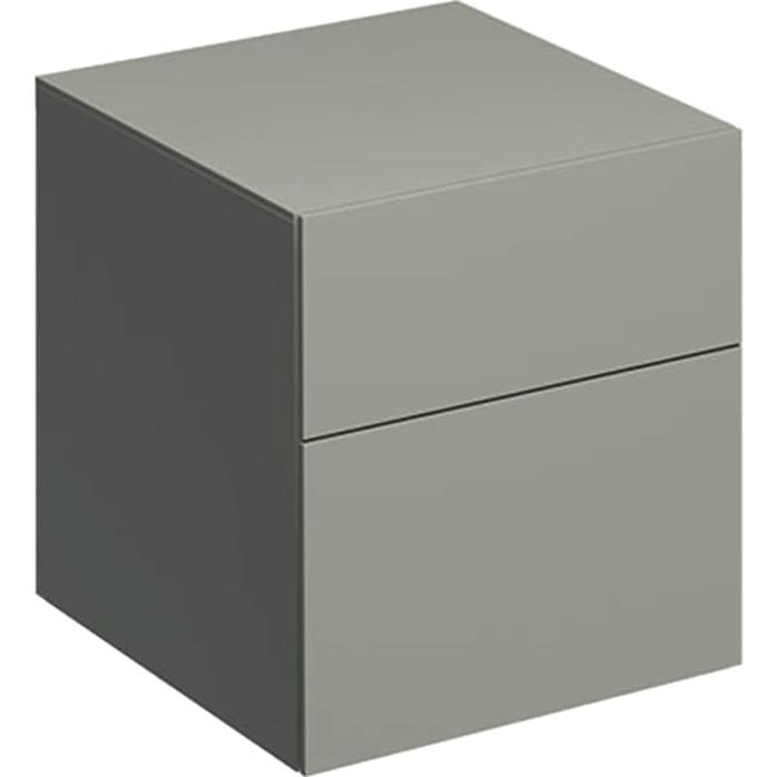 Geberit Xeno² Пенал 45х51х46.2см, подвесной, с двумя выдвижными ящиками, цвет: серый матовый