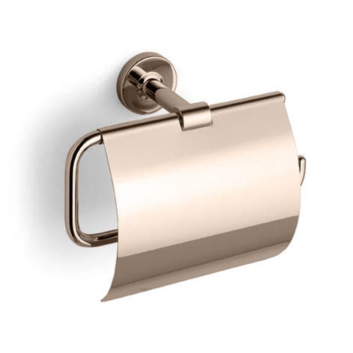 Bertocci Cinquecento Держатель для туалетной бумаги с крышкой, цвет: nichel mat
