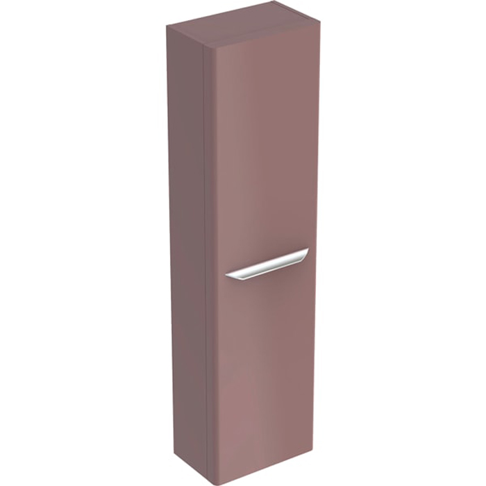 Geberit myDay Высокий пенал, 40х150х27.5см, подвесной, с одной дверью, цвет: какао с молоком