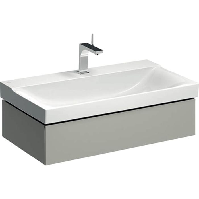 Geberit Xeno² Тумба с раковиной 88х22х46.2см, с 1 отв., подвесная, с одним выдвижным ящиком, цвет: серый матовый