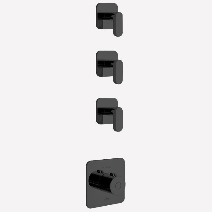 Webert Living Смеситель, термостатический, цвет: черный