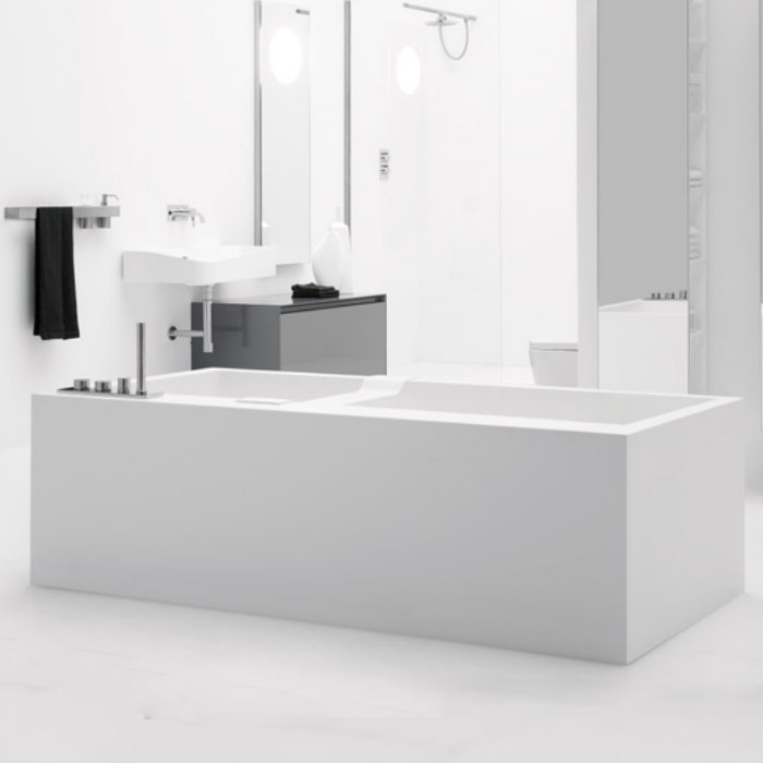 Antonio Lupi Biblio Ванна отдельностоящая (4 стороны) 170х80х53.5см, цвет: белый