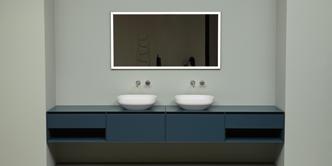 Зеркало от Antoniolupi отражающее повседневную жизнь в ванной!