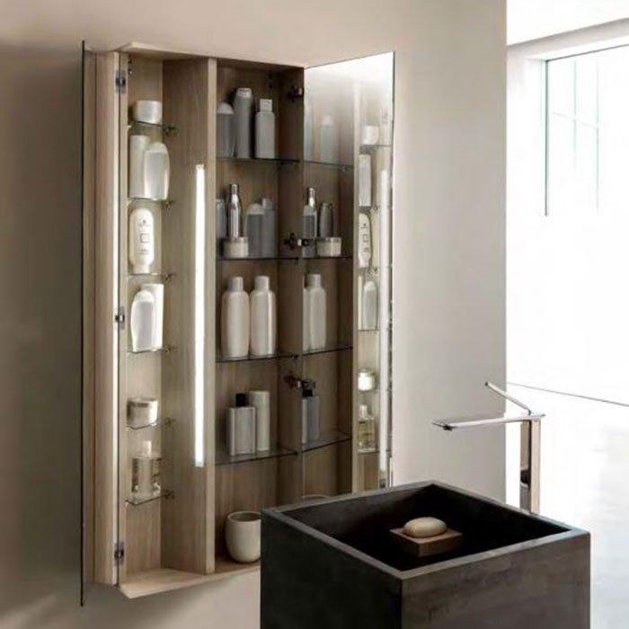 Karol Free Design Пенал зеркальный, подвесной 62х18хh164 см.