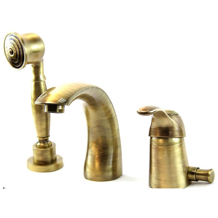 Webert Aurora Смеситель для ванны, набортный, 3 отв., цвет: бронза