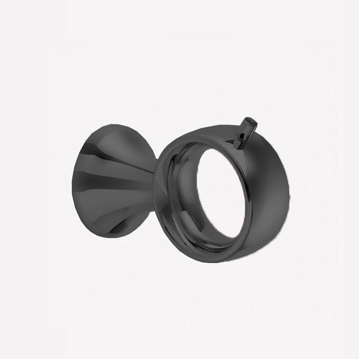 Webert Opera Крючок настенный, латунь, цвет: черный