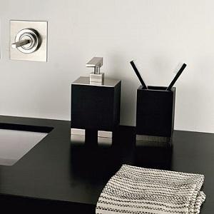 г. Москва: Gessi комплект аксессуаров Rettangolo в черном цвете (мыльница, стакан, дозатор, крючок)