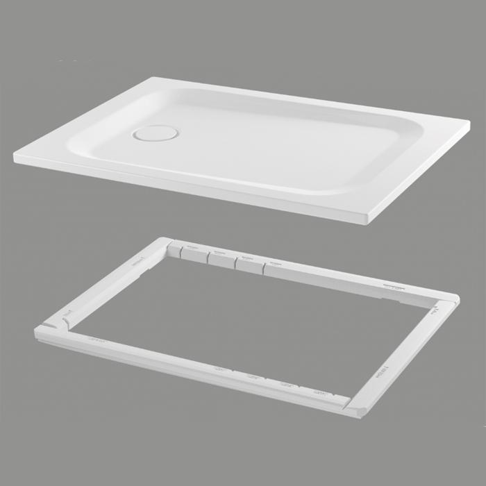 BETTEUltra Душевой поддон прямоугольный 1400х800хh35см, D90 мм, антислип,цвет белый