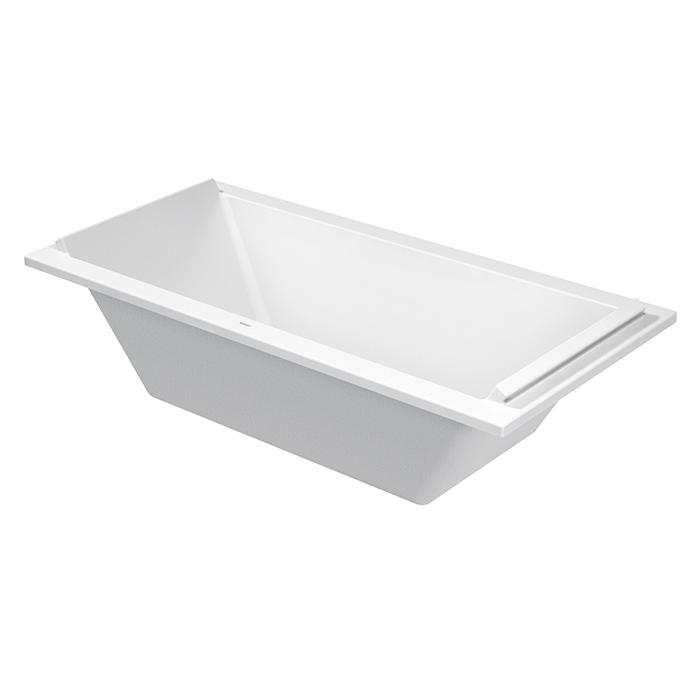 Duravit STARCK Ванна акриловая прямоугольный вариант 1900x900 mm, встраиваемая или с панелями, с 2 наклонами  для спины,  цвет: белый