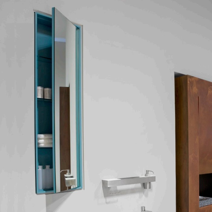 Antonio Lupi Зеркальный шкаф с 1 дверцей 36х14х125 см, боковинки матовые