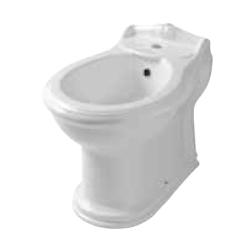 AZZURRA JUBILAEUM биде напольное приставное 59х40см с 1 отв под смеситель, цвет: белый