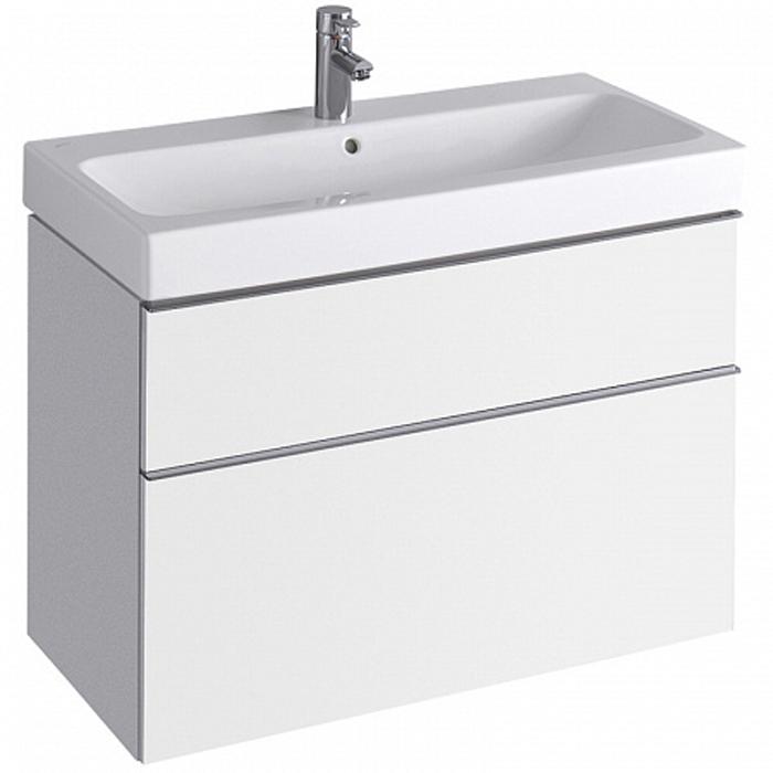 Geberit iCon Тумба с раковиной 89х62х47.7см, с 1 отв., подвесная, с двумя выдвижными ящиками, цвет: белый