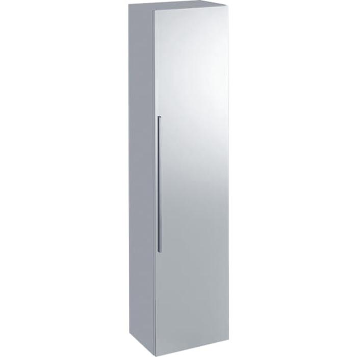 Geberit iCon Высокий пенал с одной дверью и наружным зеркалом 36х150х31.7см,, цвет: белый