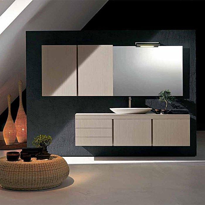 Karol Manhattan comp. №5, комплект подвесной мебели 255 см. цвет: Legno Tessuto