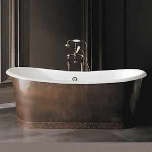 г. Москва: Devon&Devon Ambra отдельностоящая ванна с декоративными панелями из листовой меди