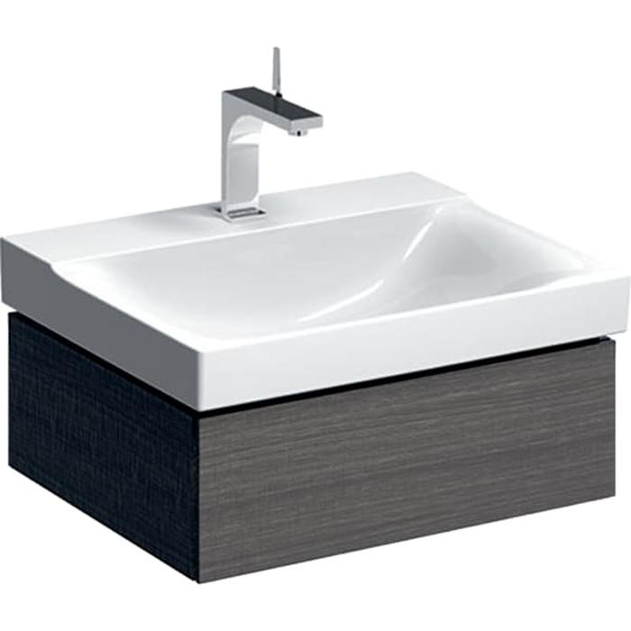 Geberit Xeno² Тумба с раковиной 58х22х46.2см, с 1 отв., подвесная, с одним выдвижным ящиком, цвет: серый/меламин