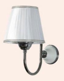 TW Harmony 029, настенная лампа светильника с основанием, цвет: белый/хром, абажур на выбор