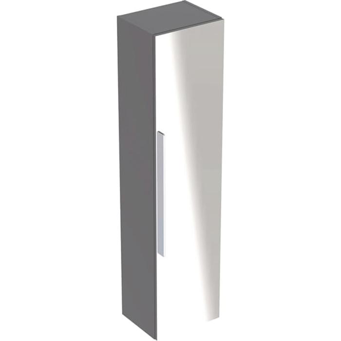 Geberit iCon Высокий пенал с одной дверью и наружным зеркалом 36х150х31.7см, цвет: платиновый