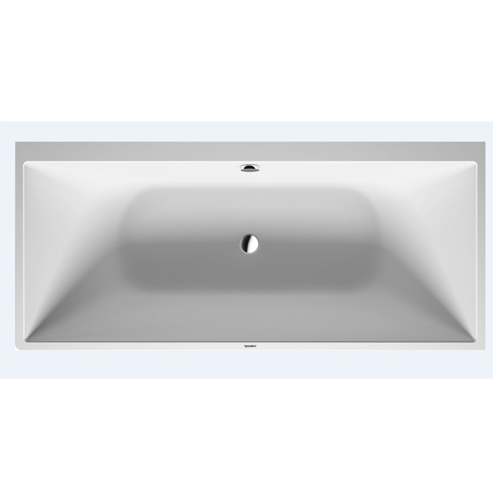 Duravit DuraSquare Ванна 1800x800мм,  пристенный вариант, с ножками и панелью, с 2 наклонами для спины , цвет белый