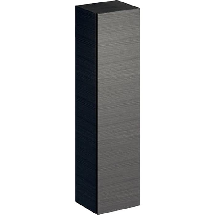 Geberit Xeno² Высокий пенал 40х170х35.1см, подвесной, с одной дверью и внутренним зеркалом, цвет: серый/меламин