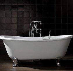 """г. Москва: Devon&Devon Admiral классическая ванна на хромированных """"лапах"""" в белом цвете"""