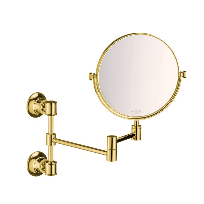 Axor Montreux Зеркало косметическое, настенный монтаж, цвет: полированное золото