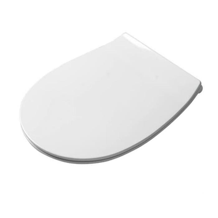 Artceram STEP Сиденье для унитаза с микролифтом, цвет: белый, петли: хром