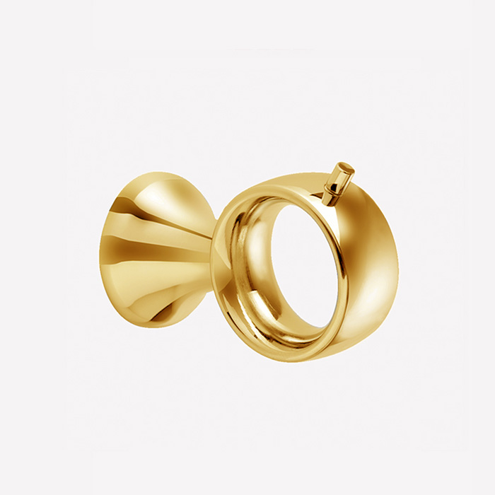 Webert Opera Крючок настенный, латунь, цвет: золото