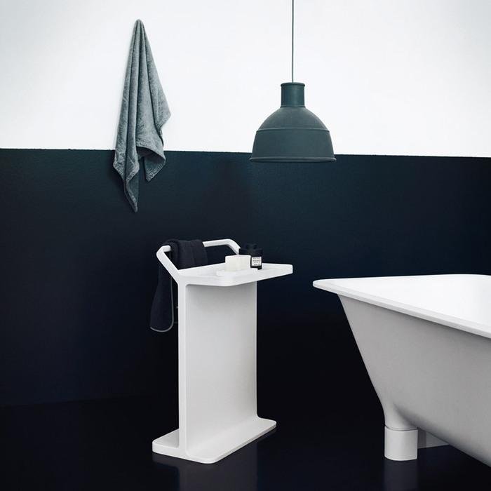 Agape Multifunzione Стойка с полотенцедержателем 50x30.5x73.2 см, напольная, цвет: белый