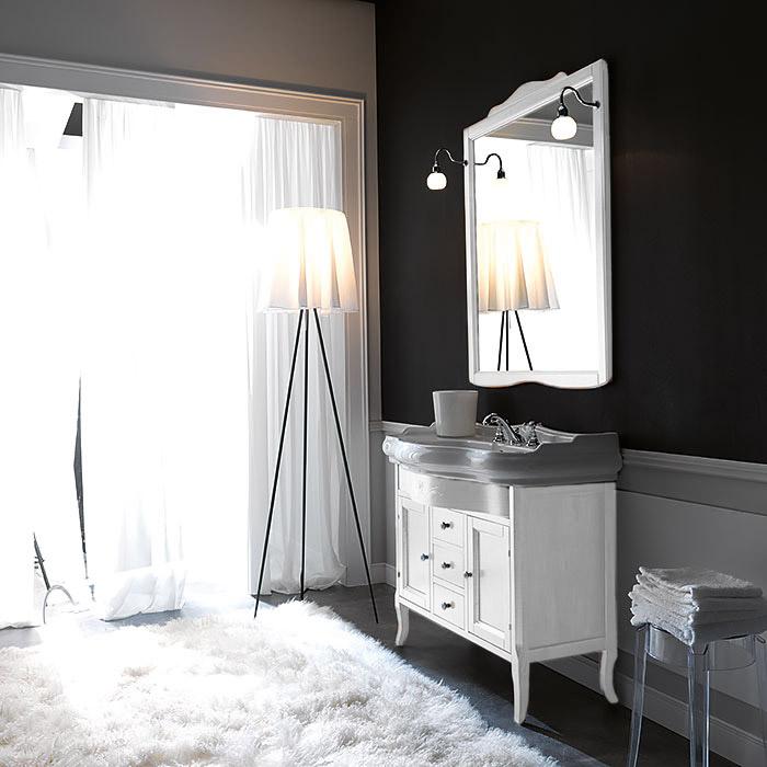 KERASAN Retro Комплект мебели 100см, Цвета: bianco matt.