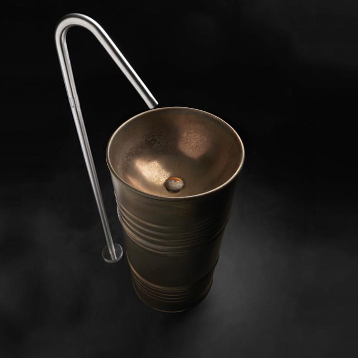 """г. Москва: Kerasan - дизайнерская раковина Artwork Barrel в отделке """"ржавчина"""""""