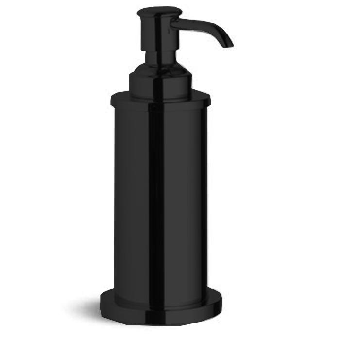 Bertocci Cinquecento Дозатор настольный в металлической колбе, цвет: черный матовый