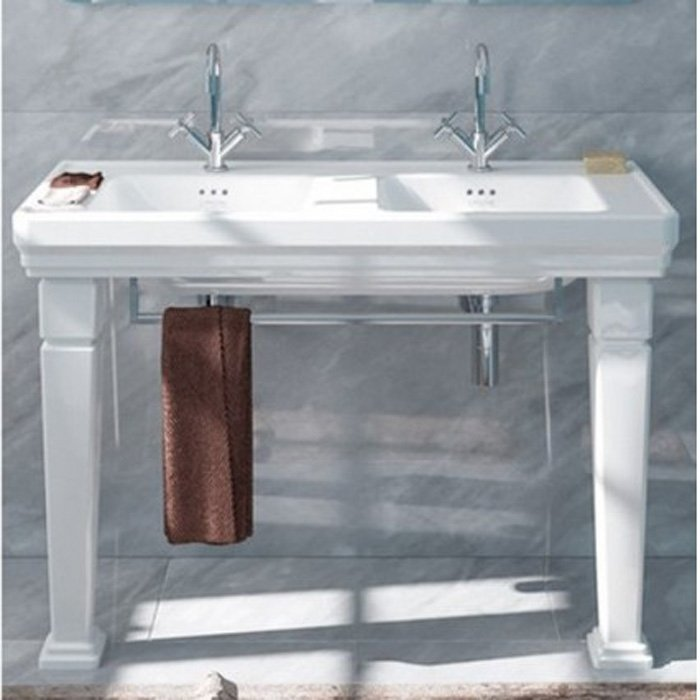 CATALANO Canova Royal Раковина 125х54 см, 2 отв., двойная, цвет: белый
