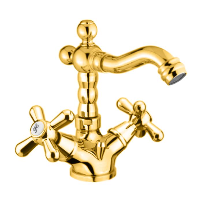 Webert Armony Смеситель для биде, на 1 отв., высокий, с донным клапаном, цвет: золото