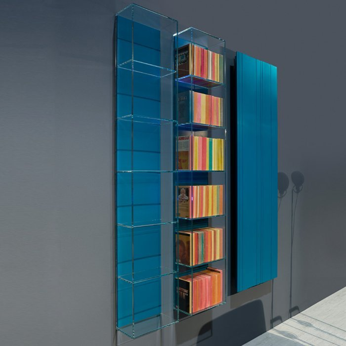 Antonio Lupi Ice Подвесной стеклянный пенал 27х14х150 см