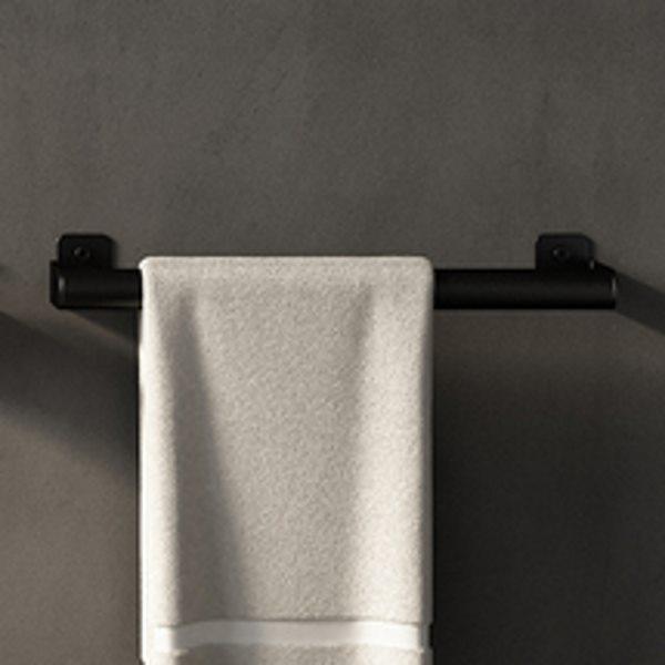 Agape Mach 2 Полотенцедержатель 40.4 см, подвесной, цвет: черный