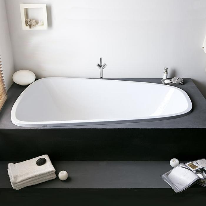 Hoesch Singlebath Duo Ванна встраиваемая 176х114х66см, DX, с гидро и аэромассажем Deluxe Whirl+Air, цвет: белый