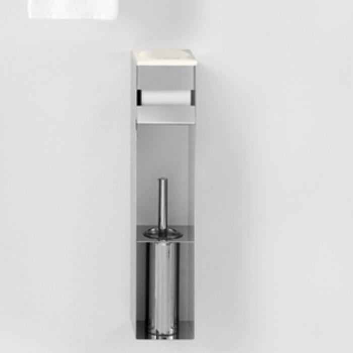 Agape 369 Стойка с туалетным ёрщиком, держателем т/б и мыльницей, подвесная, цвет: глянец