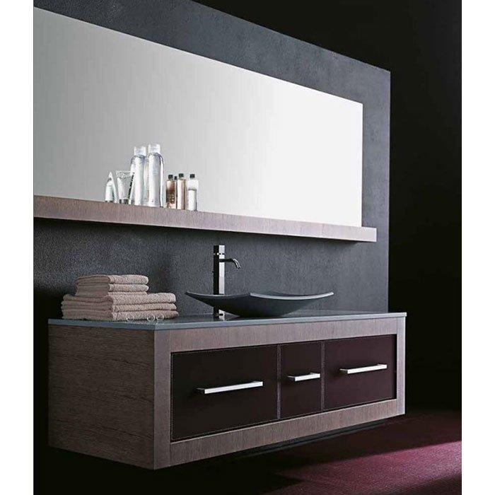 Karol Xil comp. №10, комплект подвесной мебели 205 см. цвет: Rovere Sbiancato + Cuoio Naturale