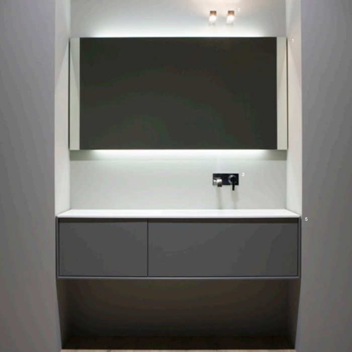 Antonio Lupi Planeta Комплект мебели 144х40х37.5 см