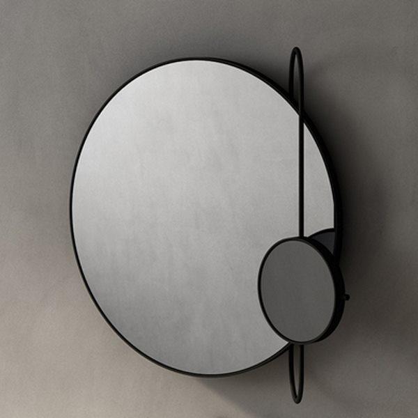 Agape Revolving Moon Зеркало подвесное 76x70x20 см, овальное, цвет: Черное