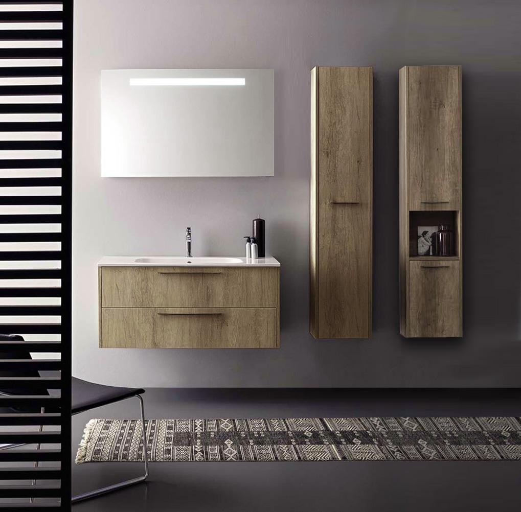 г. Москва: Cerasa комплект мебели Velvet (тумба+раковина) в отделке Tavolato Biscotto